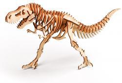 3D пазл из дерева с красками в наборе  300-01  Тиранозавр