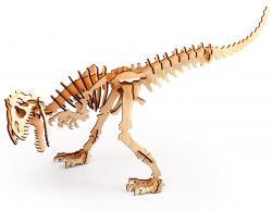 3D пазл из дерева с красками в наборе  300-02  Аллозавр
