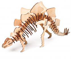 3D пазл из дерева с красками в наборе 300-08 Стегозавр