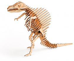 3D пазл из дерева с красками в наборе  300-06  Спинозавр