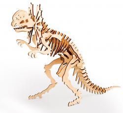 3D пазл из дерева с красками в наборе 300-04 Дилофозавр