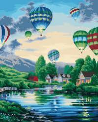 """Картины по номерам на холсте   """"Воздушные шары 2""""   КН2221"""