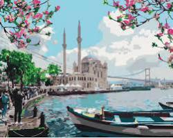"""Картины по номерам на холсте   """"Турецкое побережье""""  КН2166"""