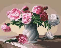 "Картины по номерам на холсте  ""Цветы любви""  КН3001"