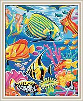 Картины по номерам на холсте  КН007  Подводный мир
