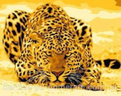 "Картины по номерам на холсте ""Леопард притаился"" КН 305"
