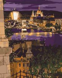 "Картины по номерам на холсте   ""Волшебные краски Будапешта""  КН3534"